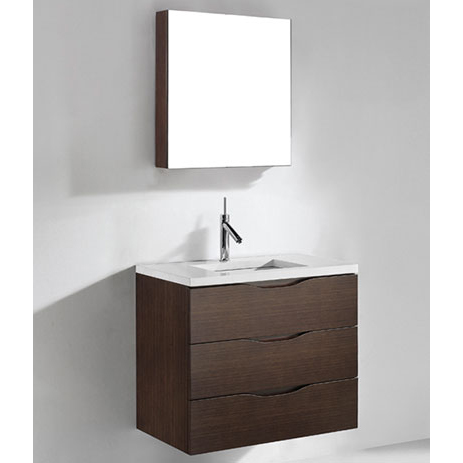 Bolano – 30′ Walnut Bathroom Vanity Madeli