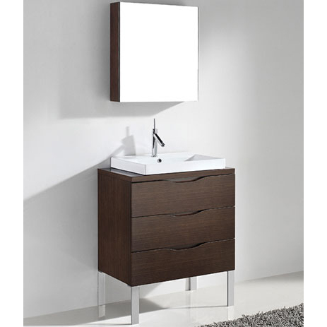 Milano – 30′ Walnut Bathroom Vanity Madeli