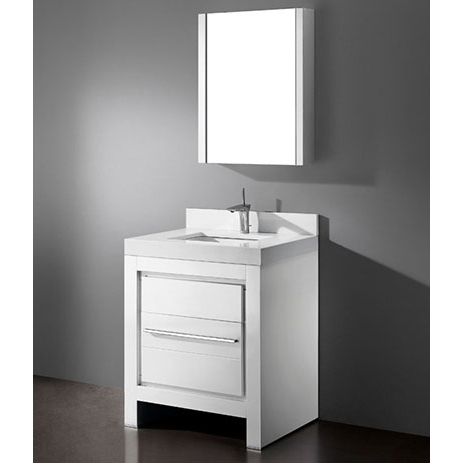 Vicenza – 30″ White Bathroom Vanity Madeli