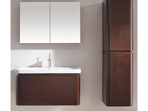 Euro – 36′ Walnut Bathroom Vanity Maneli