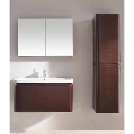 Euro – 36′ Walnut Bathroom Vanity Maneli