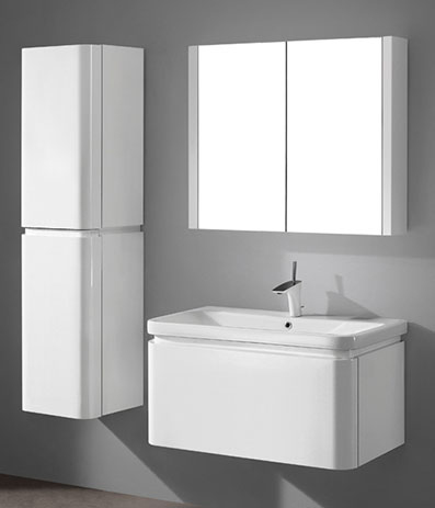 Euro – 36′ White Bathroom Vanity Maneli