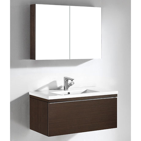 Venasca – 36′ Walnut Bathroom Vanity Maneli