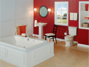 Barrett Alcove Whirlpool Bathtub By Mansfield