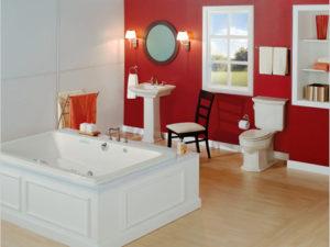 Barrett Alcove Whirlpool Bathtub By Mansfield