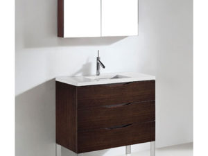 Milano – 36′ Walnut Bathroom Vanity Maneli