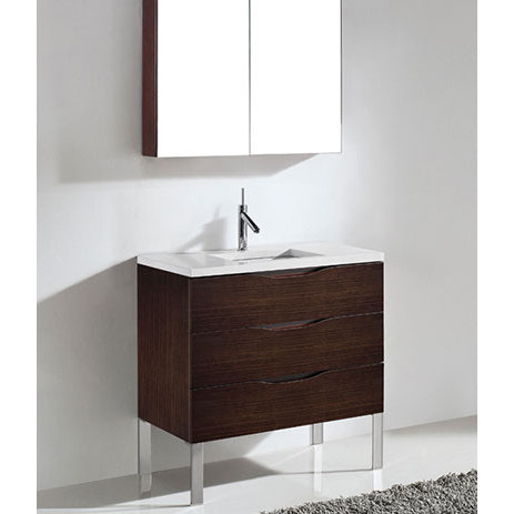 Milano – 36′ Walnut Bathroom Vanity Maneli