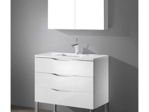 Milano – 36′ White Bathroom Vanity Maneli