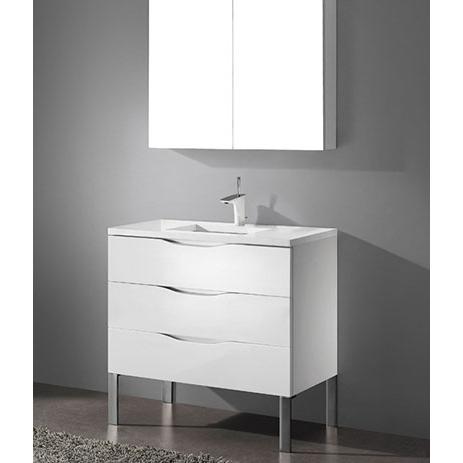 Milano – 36′ White Bathroom Vanity Maneli