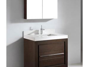 Vicenza – 36″ Walnut Bathroom Vanity Maneli