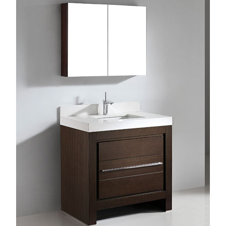 Vicenza – 36″ Walnut Bathroom Vanity Maneli