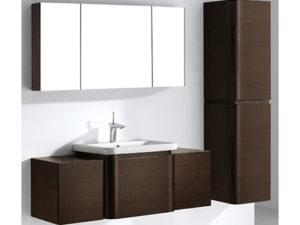 Euro – 48′ Walnut Bathroom Vanity Madeli