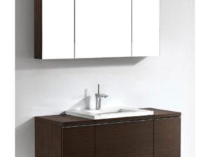 Venasca – 48′  Walnut Bathroom Vanity Madeli
