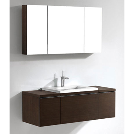 Venasca – 48′  Walnut Bathroom Vanity Madeli