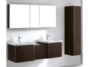 Euro – 60′ Walnut Bathroom Vanity Madeli