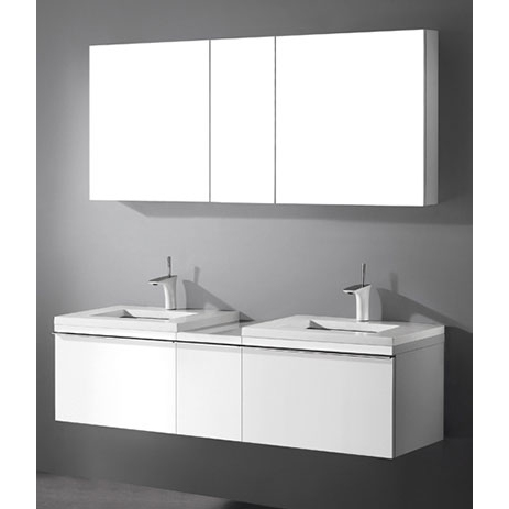 Venasca – 60′ White Bathroom Vanity Madeli