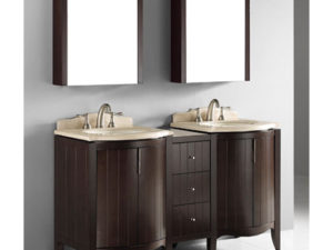 Udine – 60′ Walnut Bathroom Vanity Madeli