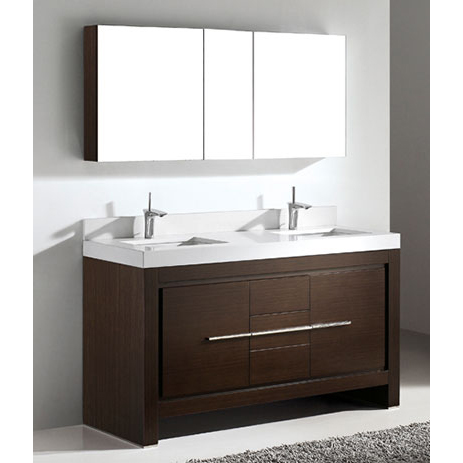 Vicenza – 60′ Walnut Bathroom Vanity Madeli