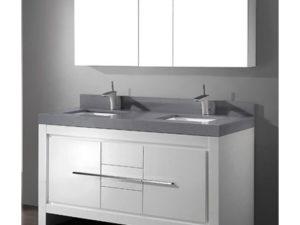 Vicenza – 60′ White Bathroom Vanity Madeli