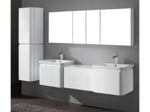 Euro – 72′ White Bathroom Vanity Madeli