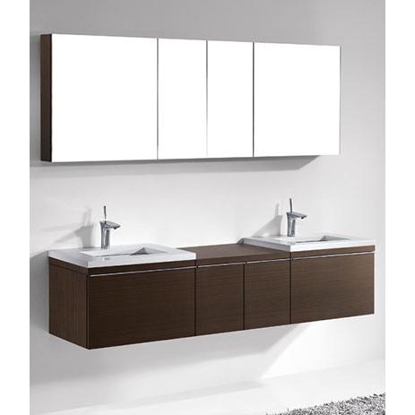 Venasca – 72′ Walnut Bathroom Vanity Madeli