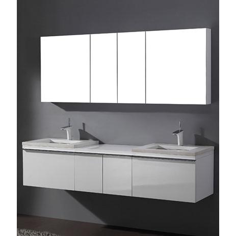 Venasca – 72′ White Bathroom Vanity Madeli