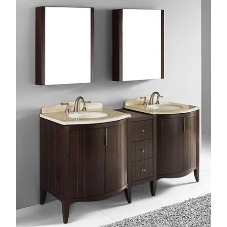 Udine – 72′ Walnut Bathroom Vanity Madeli