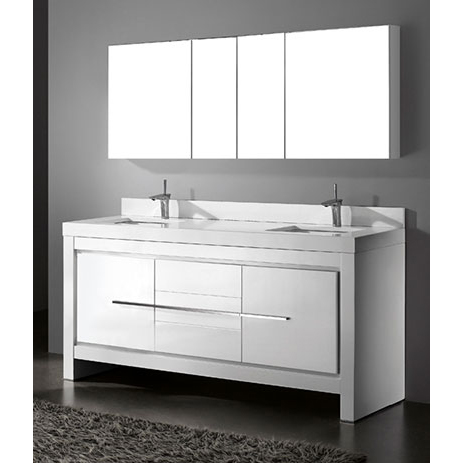 Vicenza – 72′ White Bathroom Vanity Madeli