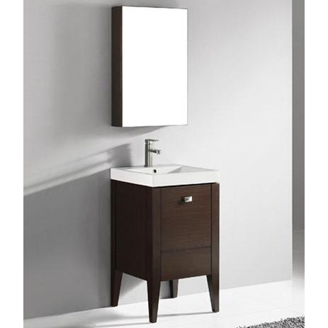 Andora – 20′ Walnut Bathroom Vanity Madeli