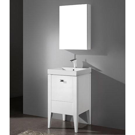 Andora – 20′ White Bathroom Vanity Madeli