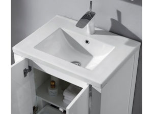 Caserta – 24′ White Bathroom Vanity Madeli