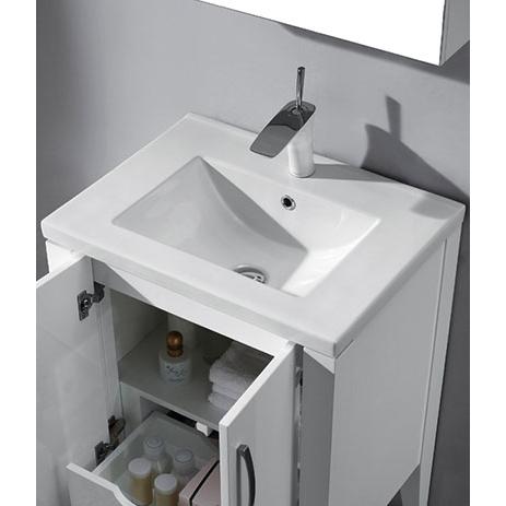 Caserta – 24′ White Bathroom Vanity Madeli
