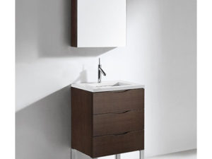 Milano – 24′ Walnut Bathroom Vanity Madeli