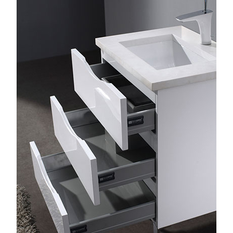 Milano – 24′ White Bathroom Vanity Madeli