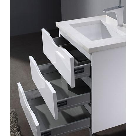 Milano – 24′ White Bathroom Vanity Madeli