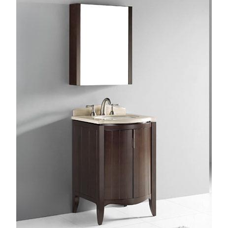 Udine – 24′ Walnut Bathroom Vanity Madeli