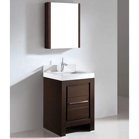 Vicenza – 24′ Walnut Bathroom Vanity Madeli