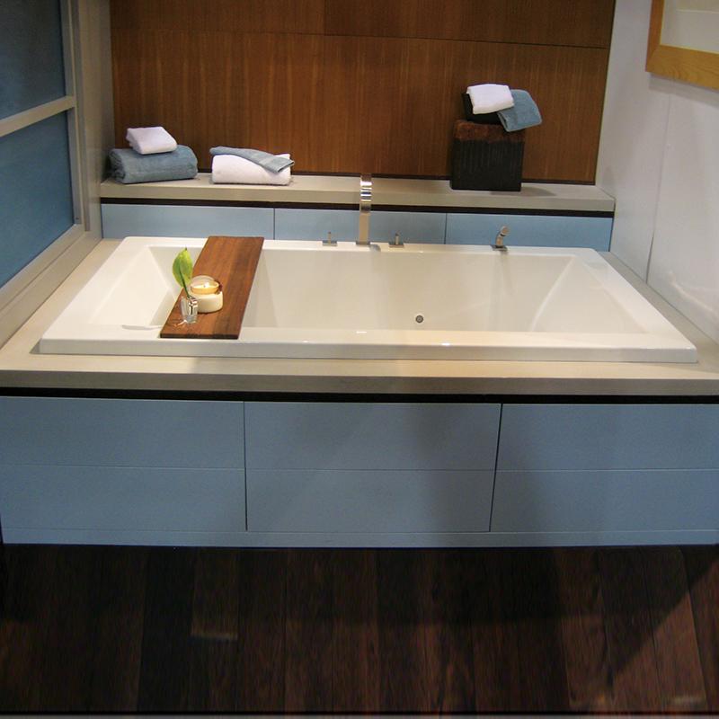 Drop in bathtubs altrek tubs cast iron drop 100 drop in for Drop in tub vs freestanding