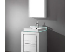 Vicenza – 24′ White Bathroom Vanity Madeli