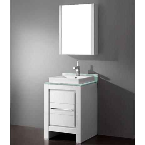 Vicenza – 24′ White Bathroom Vanity Madeli