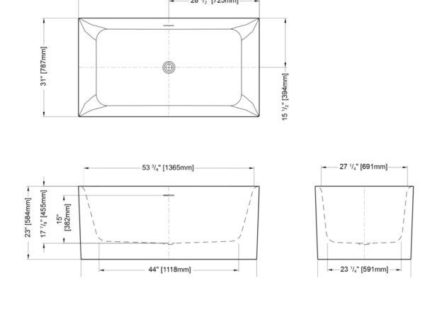 Accoustic Freestanding Bathtub
