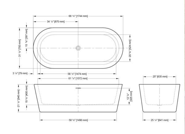 Adagio Freestanding Bathtub
