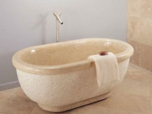 Stone Forest Bathtub With Rolled Rim