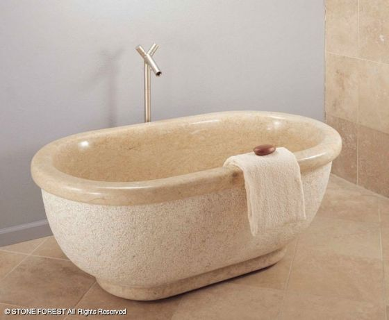 Stone Forest Bathtub With Rolled Rim