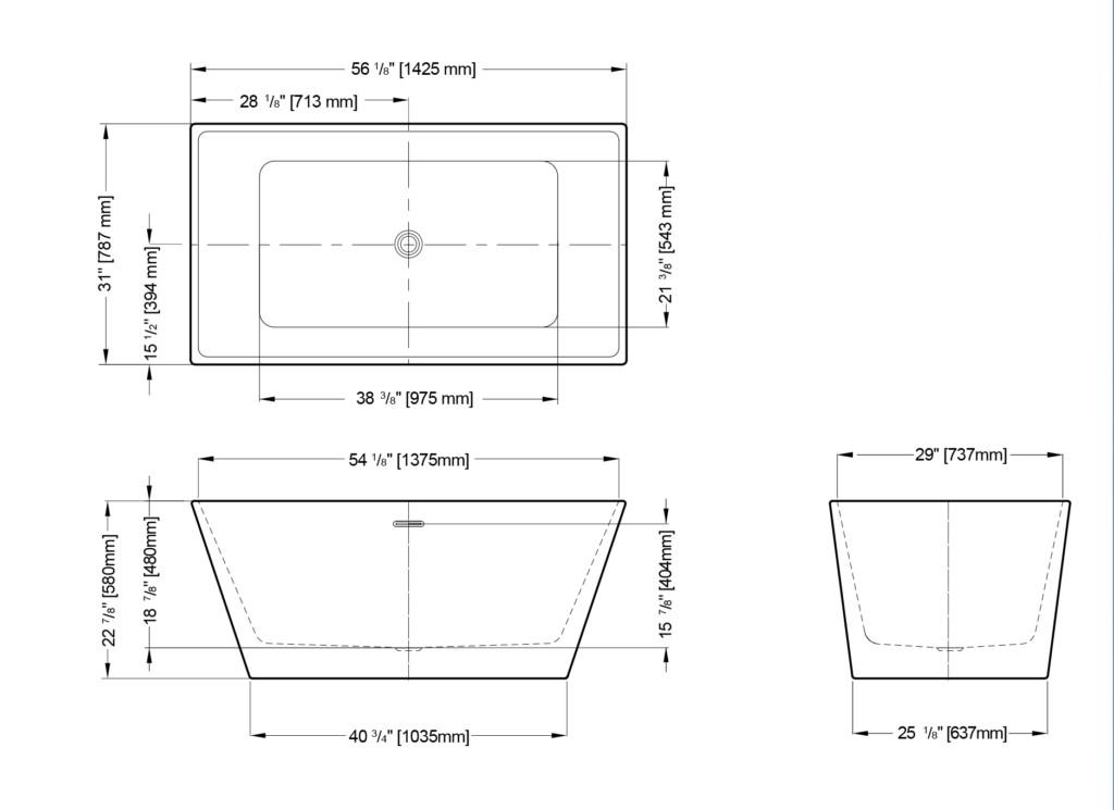 Calando Grande Freestanding Bathtub