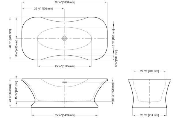 Fortissimo Freestanding Bathtub