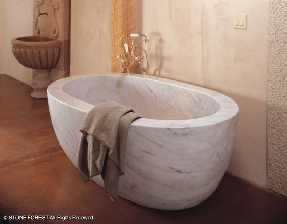 Stone Forest Oval Bathtub Offered In Many Finishes