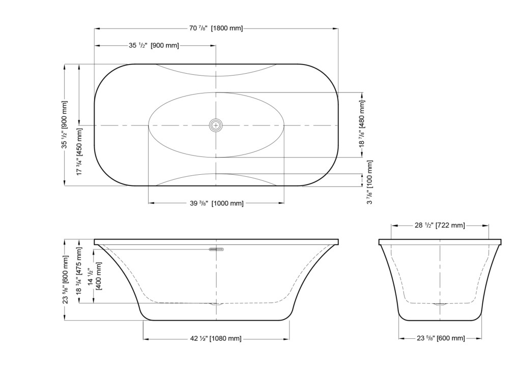 Prelude Freestanding Bathtub