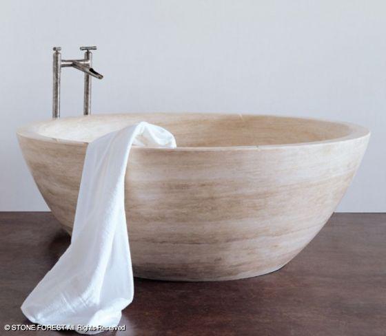 Stone Forest 60′ Or 66′ Round Bathtub