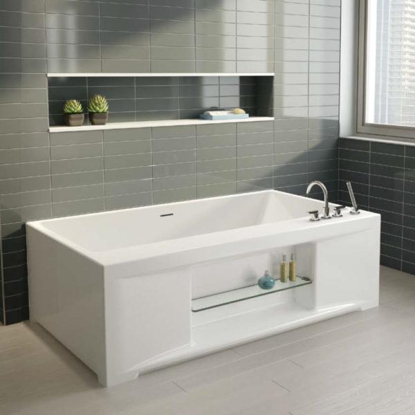 Sonette One Wall Style Bathtub